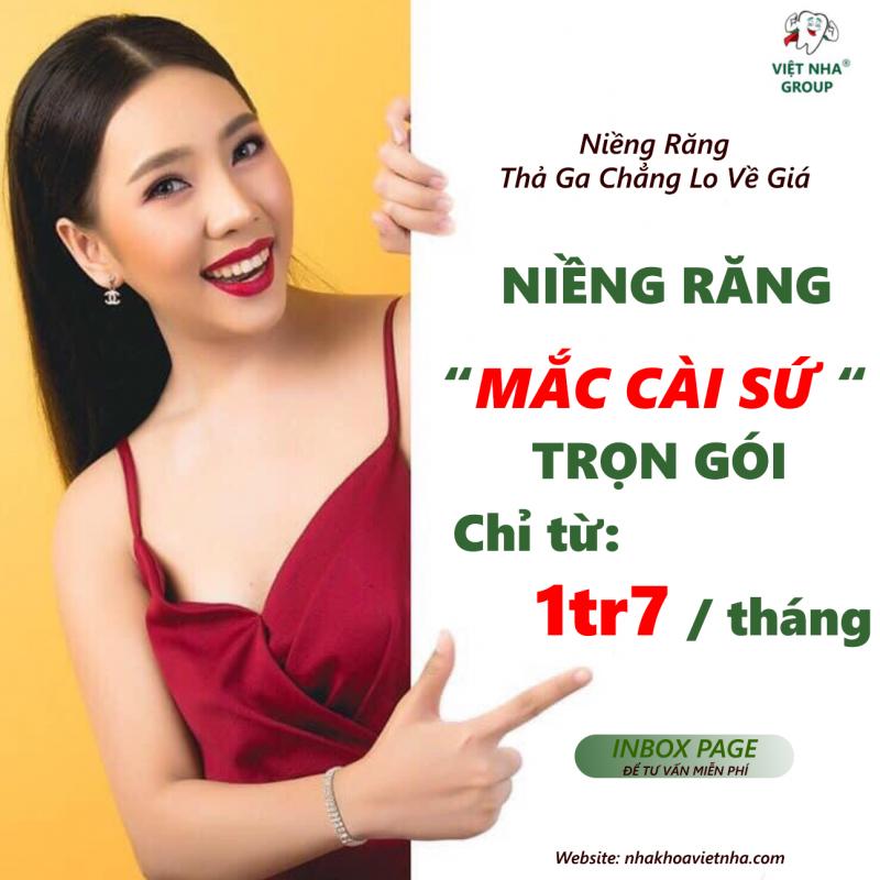 Ưu đãi Niềng răng mắc cài sứ - Nha Khoa Việt Nha
