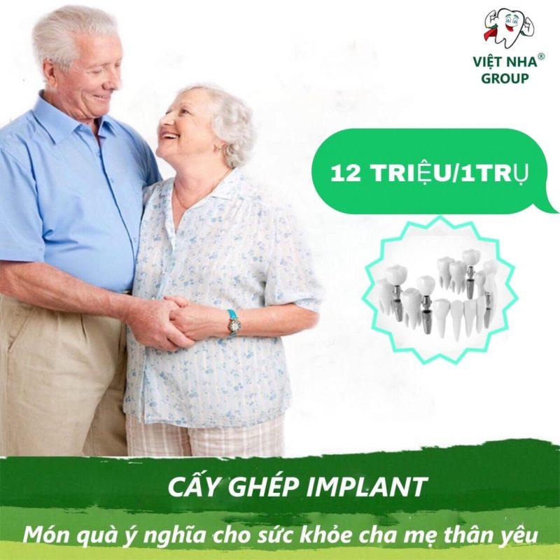 Cấy ghép Implant - món quà ý nghĩa cho cha mẹ thân yêu - Nha khoa Việt Nha