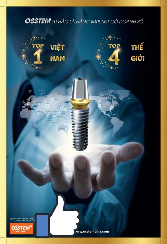 Trụ Osstem Implant- loại trụ được ưa chuộng nhất thị trường hiện nay